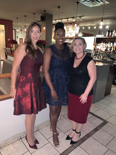 2019 Lorne Park Dental Christmas party-Lucy Deidra Cindy