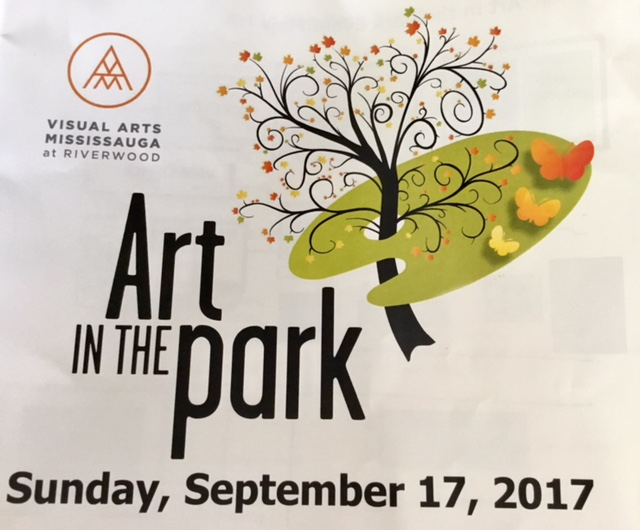 Visual Arts Mississauga, Art in the Park event 2017 sign