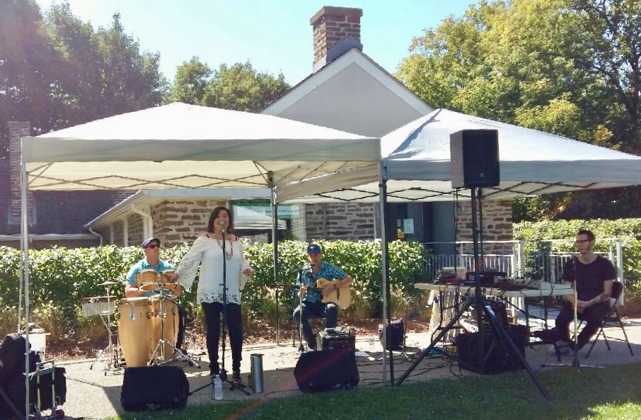 Carla Gonzalez & Latin Train-Art in the Park 2018-musical stage sponsored by Lorne Park Dental Associates