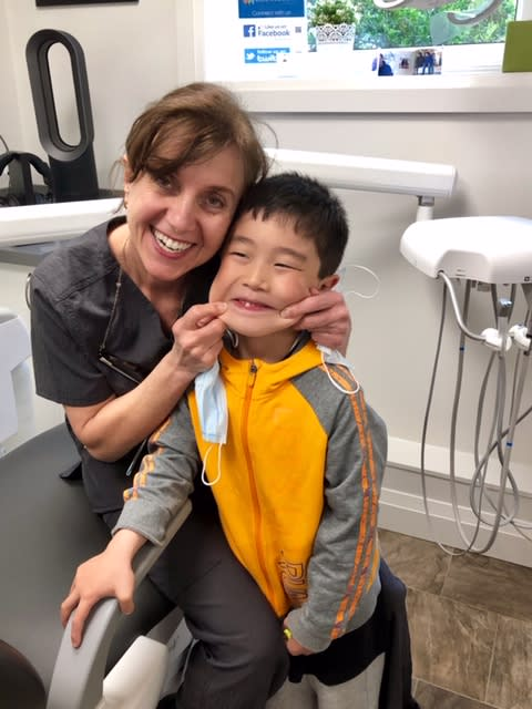 Dr. Rosanna Fasciani & Aries at Lorne Park Dental Associates in Mississauga