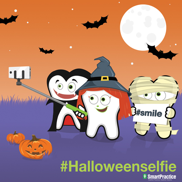 halloween selfie cartoon