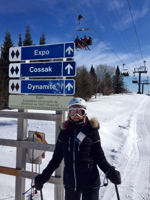 Lorne Park Dental hygienist, Jenny skiing double diamond