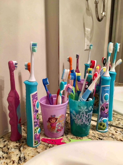 Lorne Park Dental hygienist, Jenny's granddaughter's toothbrushes