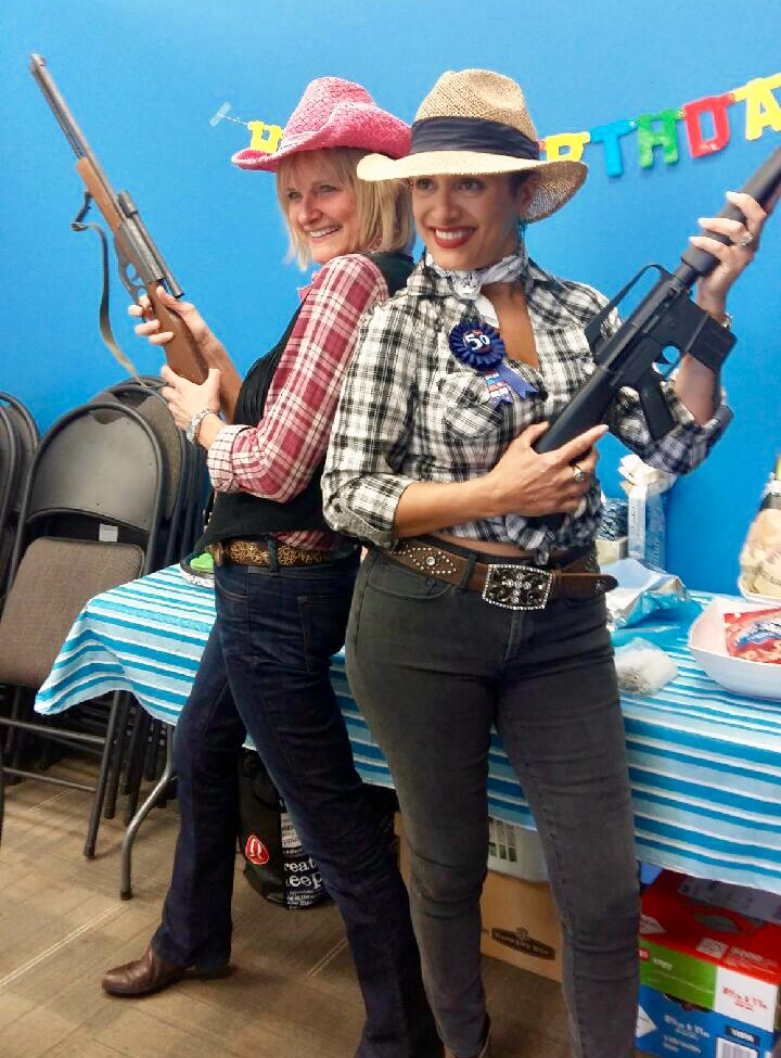 Lorne Park Dental Hygienists Jenny and Fernanda at wild west themed escape room birthday party