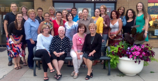 Mississauga Dentist - Dr. Rosanna Fasciani,  birthday party group photo