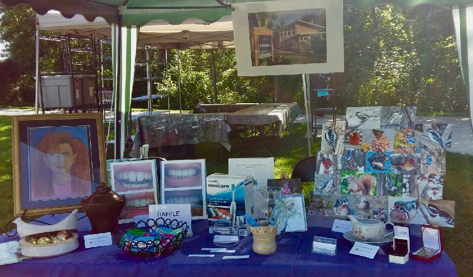 Lorne Park Dental Associates table-VAM's Art in the Park 2018