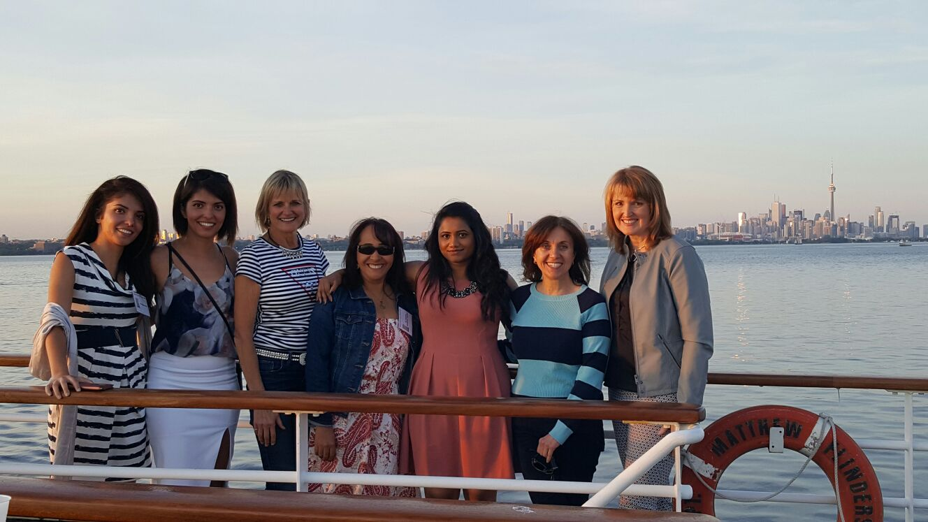 Mississauga Dentist, Dr. Rosanna Fasciani with staff and new dental friends on Halton Peel Dental Association cruise